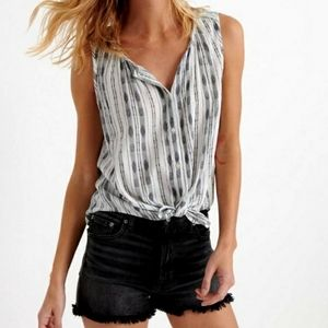 Lucky Brand Striped Crop Top  Size XS WT6
